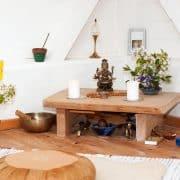 Altar im Meditationsraum